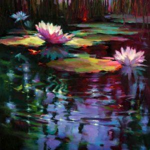 Moon light pond