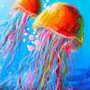 2 Rainbow jelly fish
